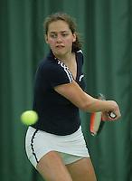 10-3-06, Netherlands, tennis, Rotterdam, National indoor junior tennis championchips, Regina Husak