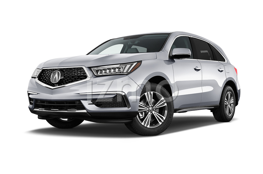Stock pictures of low aggressive front three quarter view of a 2020 Acura MDX Standard 5 Door SUV