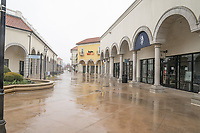 DEER PARK,  NY - MARCH 23: Tanger Outlets in Deer Park is deserted due to COVID-19 restrictions all stores are closed  on March 23, 2020 in Deer Park, New York<br /> <br /> People: Tanger Outlets in Deer Park