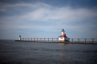 The St. Joseph Lighthouse is seen on Saturday, April 19, 2014. (Photo by James Brosher)