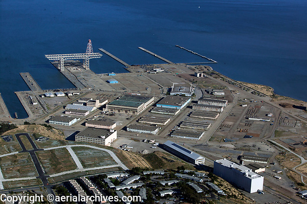 Aerial photograph of Hunters Point, San Francisco California