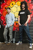 Mills and Sinx, co-founders of ustwo, a mobile app developer based in Shoreditch, London, a run-down commercial district  also known as Silicon Roundabout, which is undergoing gentrification as it becomes a centre for web-based companies and IT start-ups.