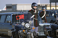 - Corazzieri di scorta durante la visita in Italia di Michail Gorbaciov, segretario generale del PCUS, Partito Comunista Sovietico, (Roma, Novembre 1989)<br /> <br /> - Corazzieri escorting during the visit to Italy of Michail Gorbachev, Secretary General of the PCUS, Soviet Communist Party, (Rome, November 1989)