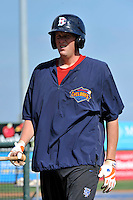 Brooklyn Cyclones infielder Joe Bonfe (25) during game against the Aberdeen Ironbirds at MCU Park in Brooklyn, NY June 21, 2010. Cyclones won 5-2.  Photo By Tomasso DeRosa/Four Seam Images