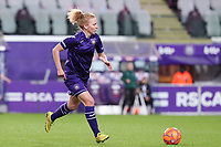 Charlotte Tison (20 Anderlecht) with the ball during a female soccer game between RSC Anderlecht Dames and Portugese Benfica Ladies  in the second qualifying round for the Uefa Womens Champions League of the 2020 - 2021 season , Wednesday 18 th of November 2020  in ANDERLECHT , Belgium . PHOTO SPORTPIX.BE | SPP | SEVIL OKTEM