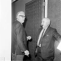 Le Premier ministre et chef du parti liberal Jean Lesage en 1965 (date exacte inconnue)<br /> <br /> PHOTO : Agence Quebec Presse - Photo Moderne
