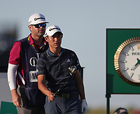 17th July 2021; Royal St Georges Golf Club, Sandwich, Kent, England; The Open Championship Golf, Day Three; Collin Morikawa (USA) prepares to hit his tee shot on the 17th hole