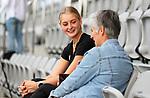 Katie Doar interviewed. Hockey Olympic Teams Announcement, National Hockey Centre, Auckland, New Zealand. Thursday 10 June 2021 Photo: Simon Watts/www.bwmedia.co.nz