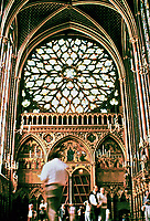 A gem of Gothic Architecture: Sainte-Chapelle in Paris, France. Magnificent Stained glass windows.