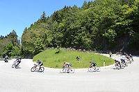 26th May 2021; Canazei, Trentino, Italy; Giro D Italia Cycling, Stage 17 Canazei to Sega Di Ala ;  Egan Bernal (Ineos Grenadiers) COL on a sweeping downhill bend