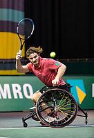 Rotterdam, The Netherlands, 4 march  2021, ABNAMRO World Tennis Tournament, Ahoy, First round wheelchair: Jef Vandorpe (BEL).<br /> Photo: www.tennisimages.com/