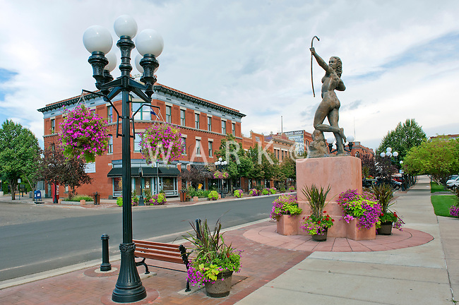 """B"" Street, historic district of Pueblo, CO"