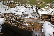 Ellen's Falls which is located along Hobbs Brook in the White Mountains, New Hampshire USA off of the Kancamagus Highway (route 112) which is one of New England's scenic byways