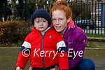 Enjoying a stroll in the Tralee town park on Friday, l to r: Little Jack O'Connor and Jackie Twohig