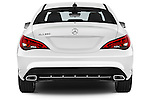 Straight rear view of 2016 Mercedes Benz CLA Class CLA250 4 Door Sedan Rear View  stock images