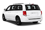 Car pictures of rear three quarter view of 2019 Dodge Grand-Caravan GT 5 Door Minivan Angular Rear