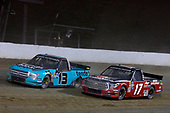 #13: Johnny Sauter, ThorSport Racing, Ford F-150 Tenda Heal and #17: Tyler Ankrum, DGR-Crosley, Toyota Tundra DGR-Crosley Driver Development