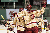 Connor Moore (BC - 7), David Cotton (BC - 17) - The Boston College Eagles defeated the Providence College Friars 3-1 (EN) on Sunday, January 8, 2017, at Fenway Park in Boston, Massachusetts.