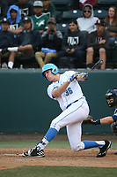 Jake Pries (36) of the of UCLA Bruins bats against the University of San Diego Toreros at Jackie Robinson Stadium on March 4, 2017 in Los Angeles, California.  USD defeated UCLA, 3-1. (Larry Goren/Four Seam Images)