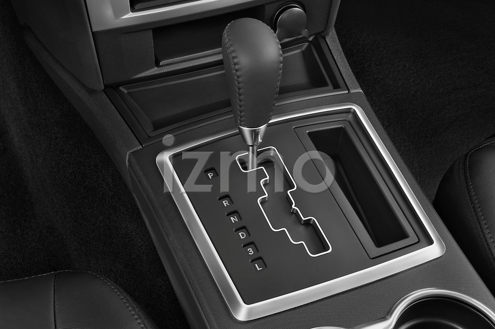 Gear shift detail view of a 2008 Dodge Charger Dub