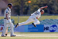 Josh Bohannon bowls for Lancashire during Kent CCC vs Lancashire CCC, LV Insurance County Championship Group 3 Cricket at The Spitfire Ground on 24th April 2021