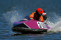 Becky Nichols bears down on the bouy line at Lakeland, Florida for the opening race of the season.