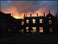 BNPS.co.uk (01202 558833)<br /> Pic:  CraigBaker/DWFRS/BNPS<br /> <br /> A £15m stately home has gone back on the market for a cut-price £2.5m after it was burnt to the ground in a suspected arson attack.<br /> <br /> Grade I listed Parnham House, near Beaminster, Dorset, is now just a charred shell of the magnificent mansion it once was following the blaze in April 2017.<br /> <br /> Its owner, hedge fund manager Michael Treichl, was arrested on suspicion of arson only to later drown in an apparent suicide. <br /> <br /> A sale for £3m was agreed for the Elizabethan manor fell through earlier this year and it has now been listed for sale again.