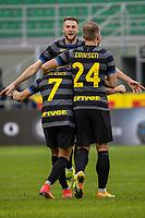 inter-genoa - milano 28 febbraio 2021 - 24° giornata Campionato Serie A - nella foto: sanchez segna il gol 3-0