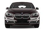 Car photography straight front view of a 2015 BMW 5 Series 535i Gran Turismo Luxury Line 5 Door Hatchback Front View