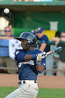 Renaldo Jenkins (2) of the Helena Brewers at bat against the Ogden Raptors at Lindquist Field on July 23, 2013 in Ogden Utah. (Stephen Smith/Four Seam Images)