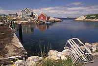 Peggy's Cove, Nova Scotia, fishing village, NS, Canada, Atlantic Ocean, Scenic view of the fishing village of Peggy's Cove in Nova Scotia.