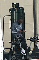Antonio Rüdiger (Deutschland Germany) auf dem Fitness-Fahrrad/Ergometer - Seefeld 04.06.2021: Trainingslager der Deutschen Nationalmannschaft zur EM-Vorbereitung