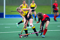 Action from the 2020 Lower North Island Girls Hockey Premiership match between Wairarapa College and FeildingHigh School at Fitzherbert Park Twin Turfs in Palmerston North, New Zealand on Tuesday, 1 September 2020. Photo: Dave Lintott / lintottphoto.co.nz