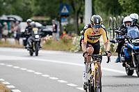 Wout van Aert (BEL/Jumbo-Visma)<br /> <br /> Belgian National Championships 2021 - Road Race<br /> <br /> One day race from Waregem to Waregem (221km)<br /> <br /> ©kramon