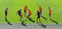 Hull City players warm up<br /> <br /> Photographer Dave Howarth/CameraSport<br /> <br /> The EFL Sky Bet League One - Hull City v Crewe Alexandra - Saturday 19th September 2020 - KCOM Stadium - Kingston upon Hull<br /> <br /> World Copyright © 2020 CameraSport. All rights reserved. 43 Linden Ave. Countesthorpe. Leicester. England. LE8 5PG - Tel: +44 (0) 116 277 4147 - admin@camerasport.com - www.camerasport.com