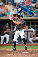 Quad Cities River Bandits center fielder Logan Mattix (14) at bat during a game against the West Michigan Whitecaps on July 22, 2018 at Modern Woodmen Park in Davenport, Iowa.  West Michigan defeated Quad Cities 6-4.  (Mike Janes/Four Seam Images)