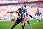 Hector Herrera of Atletico de Madrid and Jose Luis Garcia 'Recio' of CD Leganes during La Liga match between Atletico de Madrid and CD Leganes at Wanda Metropolitano Stadium in Madrid, Spain. January 26, 2020. (ALTERPHOTOS/A. Perez Meca)