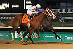 Will Take Charge (outside) and Luis Saez defeat Game on Dude (inside) and jockey Mike Smith in the Clark Handicap at Churchill Downs, 11-29-13, for trainer D. Wayne Lukas and owner Willis Horton.