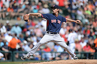 Boston Red Sox pitcher Henry Owens (76) during a spring training game against the Baltimore Orioles on March 8, 2014 at Ed Smith Stadium in Sarasota, Florida.  Baltimore defeated Boston 7-3.  (Mike Janes/Four Seam Images)