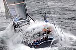 The Open 60 Safran in preparation for the Transat Jacques Vabre 2011, skipper Marc Guillemot co/skipper Yann EliÈs, Brittany, France.