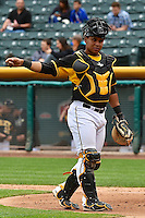 Luis Martinez (20) of the Salt Lake Bees during the game against the Memphis Redbirds at Smith's Ballpark on June 18, 2014 in Salt Lake City, Utah.  (Stephen Smith/Four Seam Images)