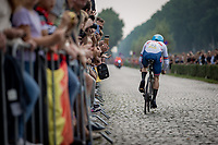 Daniël Bigham (GBR)<br /> <br /> 88th UCI Road World Championships 2021 – ITT (WC)<br /> Men's Elite Time trial from Knokke-Heist to Brugge (43.3km)<br /> <br /> ©Kramon