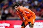 Chelsea Goalkeeper Thibaut Courtois during the International Champions Cup 2017 match between FC Internazionale and Chelsea FC on July 29, 2017 in Singapore. Photo by Marcio Rodrigo Machado / Power Sport Images