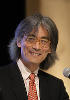Maestro Kent Nagano attend the unveiling of 2016-2017 program of the Montreal Symphonic Orchestra, March 9,2016 at City hall.<br /> <br /> PHOTO : Pierre Roussel - Agence Quebec Presse