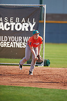 Alex Boortz (4) of Casa Roble Fundamental High School in Orangevale, California during the Baseball Factory All-America Pre-Season Tournament, powered by Under Armour, on January 14, 2018 at Sloan Park Complex in Mesa, Arizona.  (Zachary Lucy/Four Seam Images)
