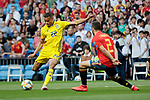 Spain national team player Dani Carvajal and Sweden national team player Robin Quaison during UEFA EURO 2020 Qualifier match between Spain and Sweden at Santiago Bernabeu Stadium in Madrid, Spain. June 10, 2019. (ALTERPHOTOS/A. Perez Meca)