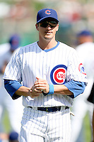 February 29, 2008: Ryan Theriot of the Chicago Cubs at Hohokam Park during spring training in Mesa, AZ. Photo by:  Chris Proctor/Four Seam Images