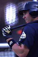 Tim Salmon of the Anaheim Angels during a 2001 season MLB game at Angel Stadium in Anaheim, California. (Larry Goren/Four Seam Images)