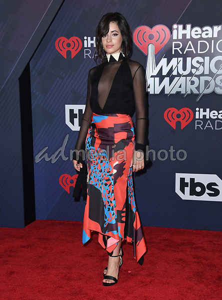 11 March 2018 - Inglewood, California - Camila Cabello. 2018 iHeart Radio Awards held at The Forum. Photo Credit: Birdie Thompson/AdMedia
