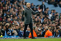 Manchester City Manager Pep Guardiola during the UEFA Champions League Quarter Final second leg match between Manchester City and Tottenham Hotspur at the Etihad Stadium on April 17th 2019 in Manchester, England. (Photo by Daniel Chesterton/phcimages.com)<br /> Foto PHC/Insidefoto <br /> ITALY ONLY